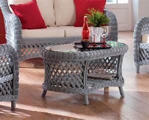 Table Basse Rotin : table basse rotin victoria gris mobilier ~ Teatrodelosmanantiales.com Idées de Décoration