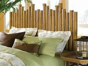 Tete De Lit Bambou : du bambou d co pour un int rieur original et moderne d couvrir bambous pinterest ~ Teatrodelosmanantiales.com Idées de Décoration