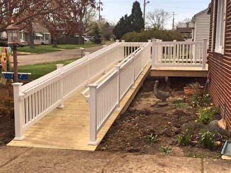 wheelchair r railing stellar construction ltd photo galleries wood decks 1002