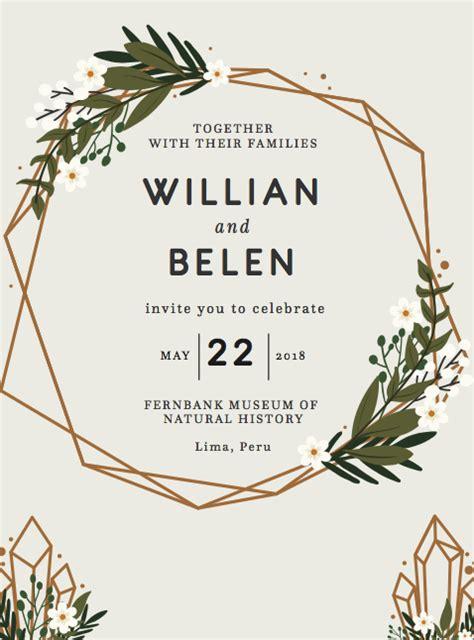 50 + Fabulous Free Wedding Invitation Templates 2020