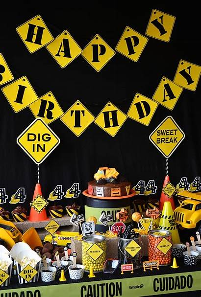 Construction Party Birthday Decorations Theme Parties Idea