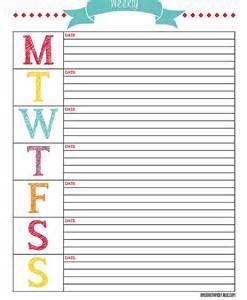 DIY Weekly Planner Printable