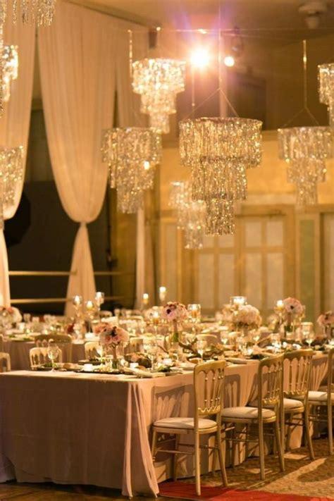 glamorous wedding glamorous rose gold wedding