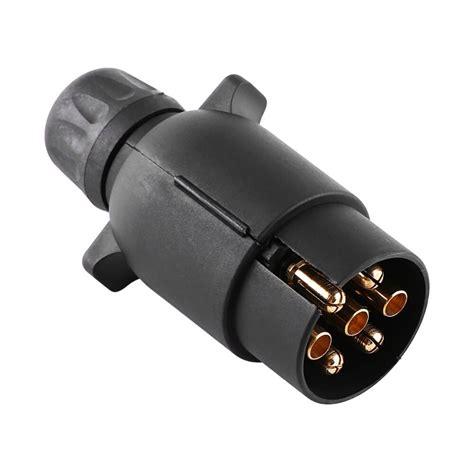 12v 7 pin electric trailer plug n type plastic 7 pole