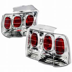 99-04 Ford Mustang Euro Style Altezza Tail Lights - Chrome