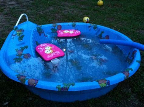 Hard Blue Plastic Kiddie Pool With Slide