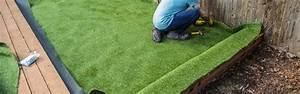 Pose Gazon Synthetique Sur Terre : pose pelouse synthtique interesting avantages du gazon ~ Dailycaller-alerts.com Idées de Décoration