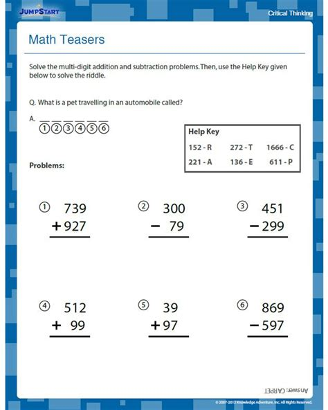 critical thinking math worksheets for 2nd grade 1000 images about educational worksheets on