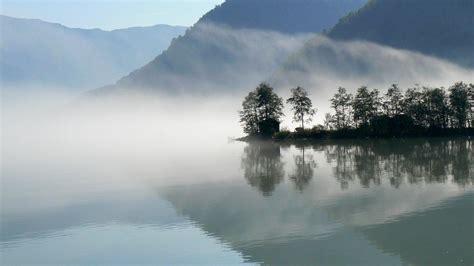 fog   reflective lake wallpaper allwallpaperin