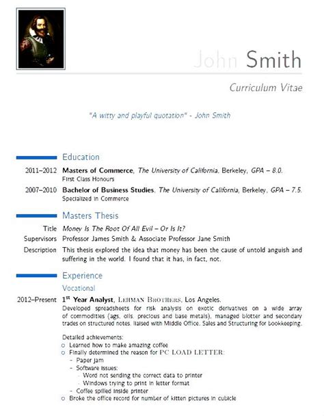 modern resume template pdf sle modern cv template pdf free sles exles