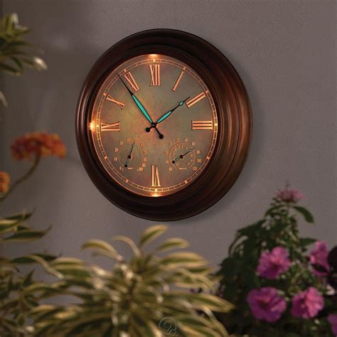 the outdoor patio lighted atomic clock battery powered 24