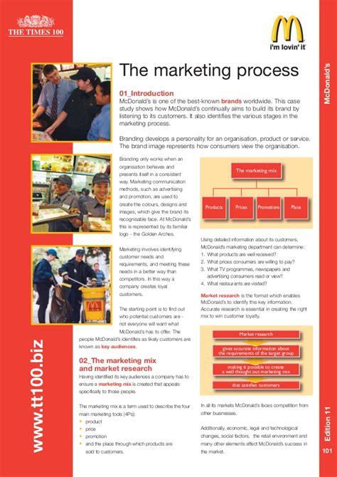 study marketing mcdonalds study
