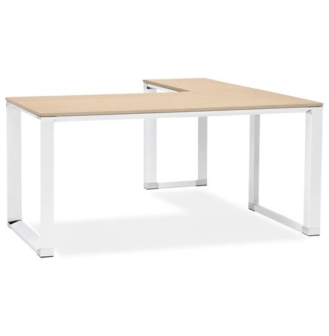 bureau d angle blanc bureau d 39 angle design xline en bois finition naturelle et