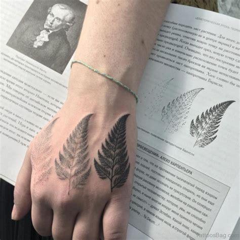 elegant leaf tattoos  hand