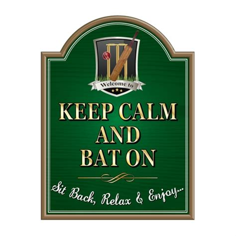 Brass Bathroom Signs by Jaf Graphics Pub Cricket Sign Personalised Cricket