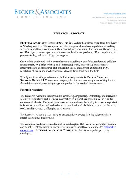 Method Cover Letter by Research Cover Letter Project Scope Template
