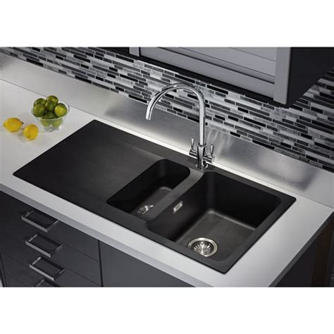 black kitchen sink tectonite carbon black bowl 1 2 kitchen sink 4740