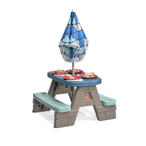 step 2 table with umbrella picnic play table with umbrella kids picnic table step2