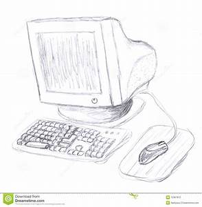 Old Computer Sketch Stock Photography - Image: 12367812