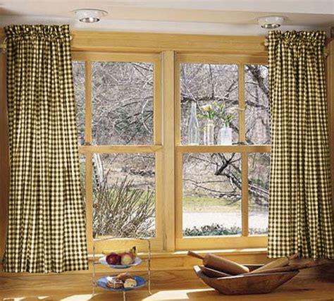 brown gingham kitchencafe curtains