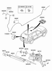 Hyundai Santa Fe Arm Assembly Rear   Rear  Rr    Wiper