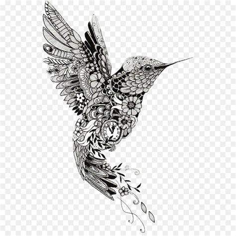 hummingbird mehndi tattoo mandala henna bird png