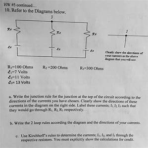 Solved  Refer To The Diagram Below A  Write The Junction R