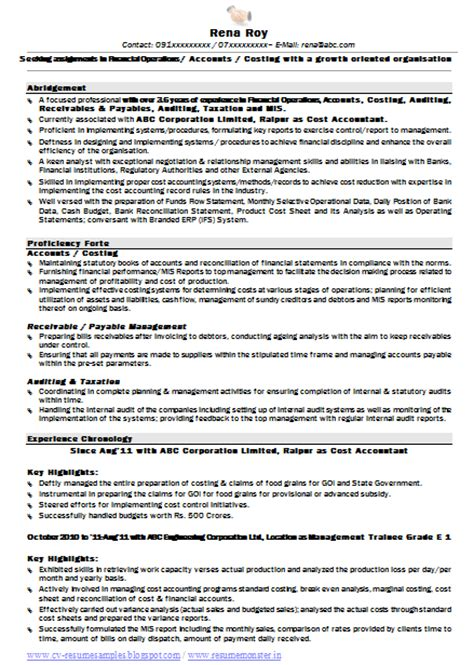 Resume Format 2014 India by 10000 Cv And Resume Sles With Free Free