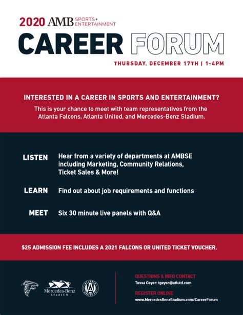 Salary information comes from 7 data points collected directly from employees, users, and past and present job advertisements on indeed in the past 36 months. 2020 AMBSE Sport Entertainment Career Forum   Career Center   Georgia Institute of Technology ...
