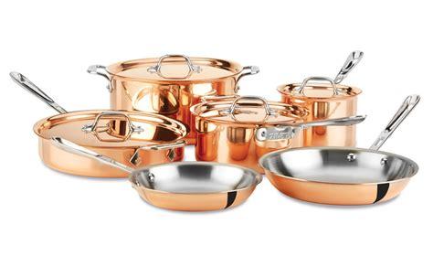 clad  copper clad cookware set  piece cutlery