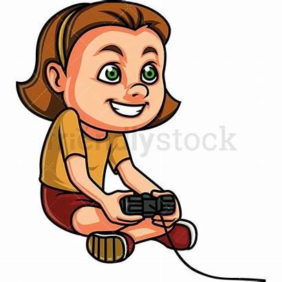 Playing Games Clipart Cartoon Vector Teens Friendlystock