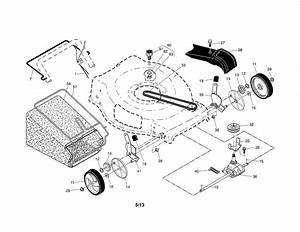 Craftsman Model 917370431 Walk Behind Lawnmower  Gas