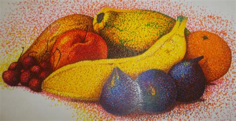 dotted fruits pointillism kollies creation drawing