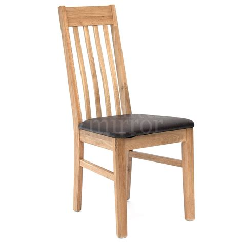 dining chair with faux leather seat pad furniture