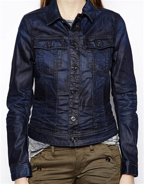 star raw denim jacket  blue lyst