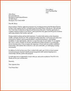 cover letter examples for teachers program format With cover letter to be a teacher