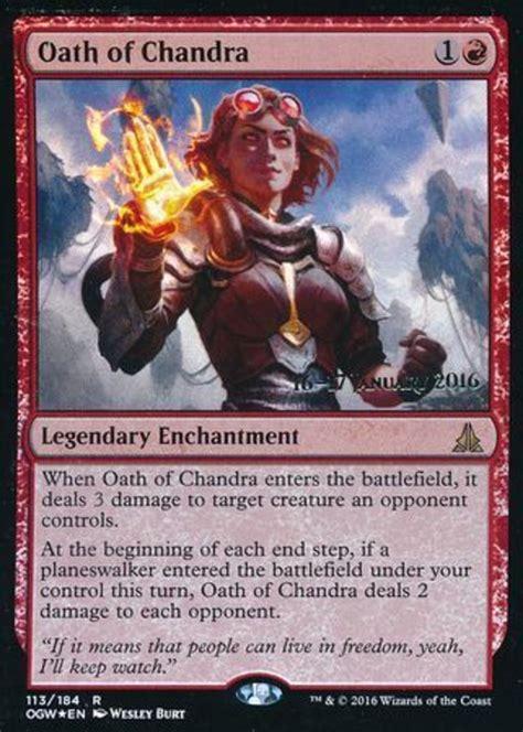 magic gathering enchantments oath chandra card