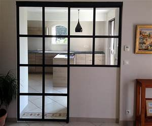 porte cloison menuiserie interieur installation With porte de garage coulissante avec porte intérieure vitrée sur mesure