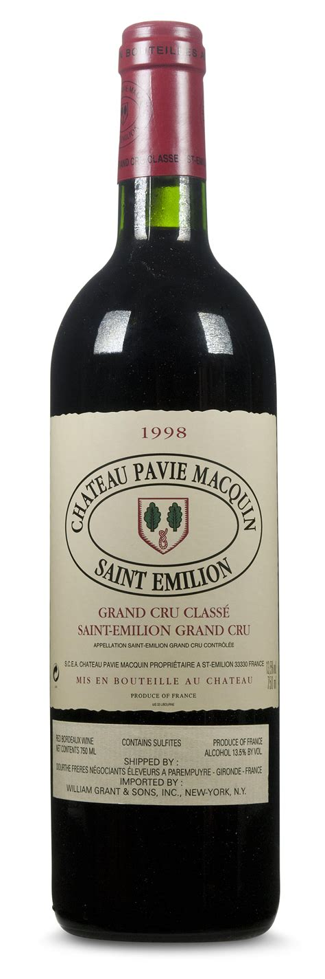 chateau pavie macquin ch 226 teau pavie macquin 1998 emilion grand cru