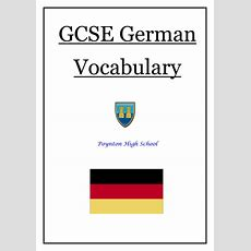 New Gcse German Vocabulary For New Aqa Spec By Noonoophil  Teaching Resources Tes