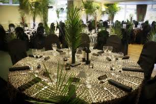 Jungle Theme Table Decorations