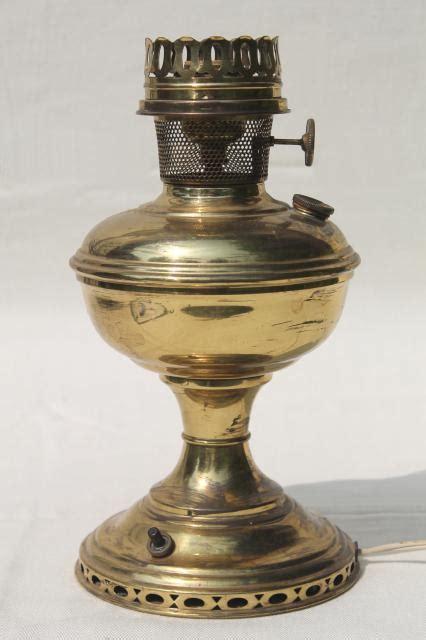 antique vintage brass oil l electrified light w old aladdin 11 burner