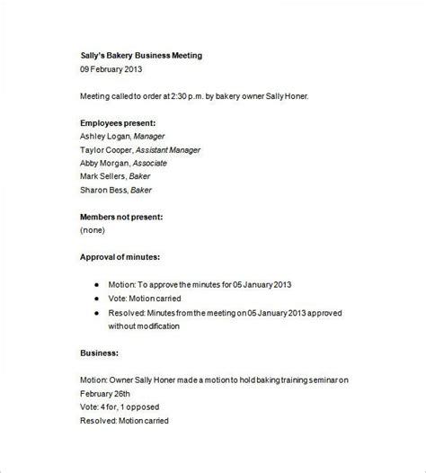 sle meeting minutes template business meeting minutes template free adktrigirl
