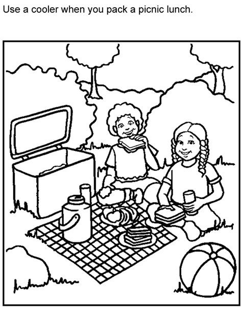 picnic food coloring pages az coloring pages