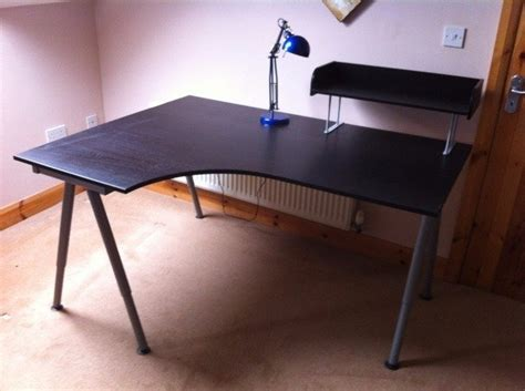 Corner Desk With Shelf And Lamp For Sale In Dunderry