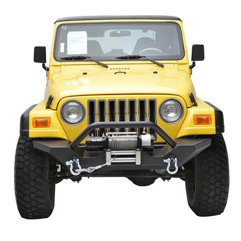 jeep wrangler front 87 06 jeep wrangler yj tj heavy duty rock crawler front bumper