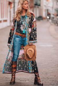 Mode Hippie Chic : bohemian chic hippie style kimono boho the colors of my ~ Voncanada.com Idées de Décoration