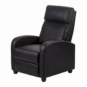 Recliner chair modern leather chaise couch single accent for Sectional sofa with one recliner