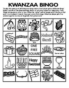 Kwanzaa Bingo Board No.1 Coloring Page | crayola.com