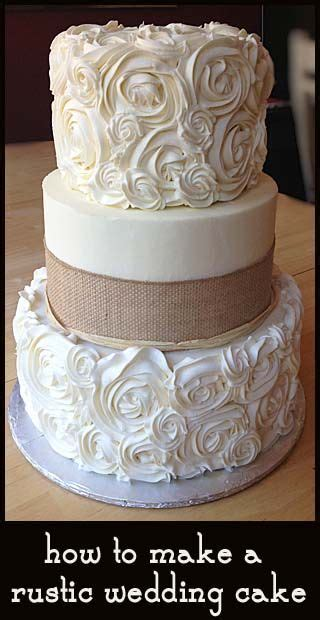 How To Make A Rustic Wedding Cake Easy And Beautiful